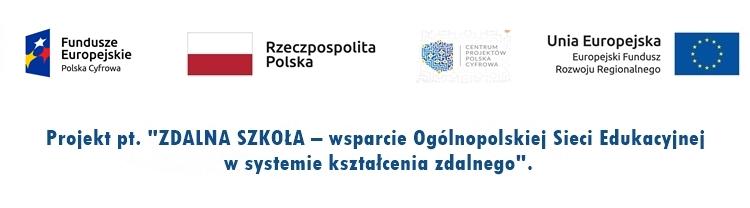 Odnośnik do projektu Zdalna Szkoła - wsparcie Ogólnopolskiej Sieci Edukacyjnej w systemie kształcenia zdalnego